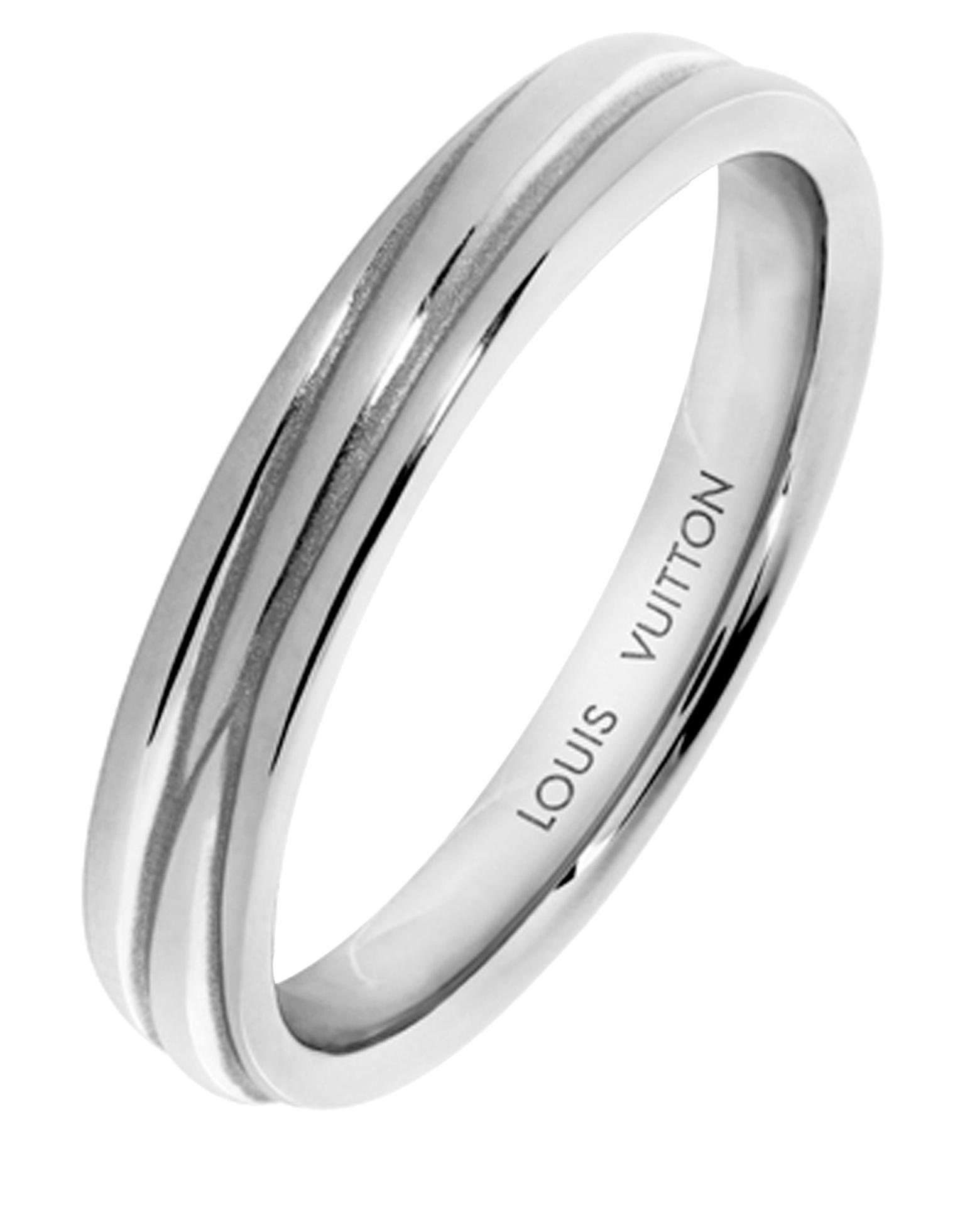 epi wedding band in platinum louis vuitton the jewellery editor