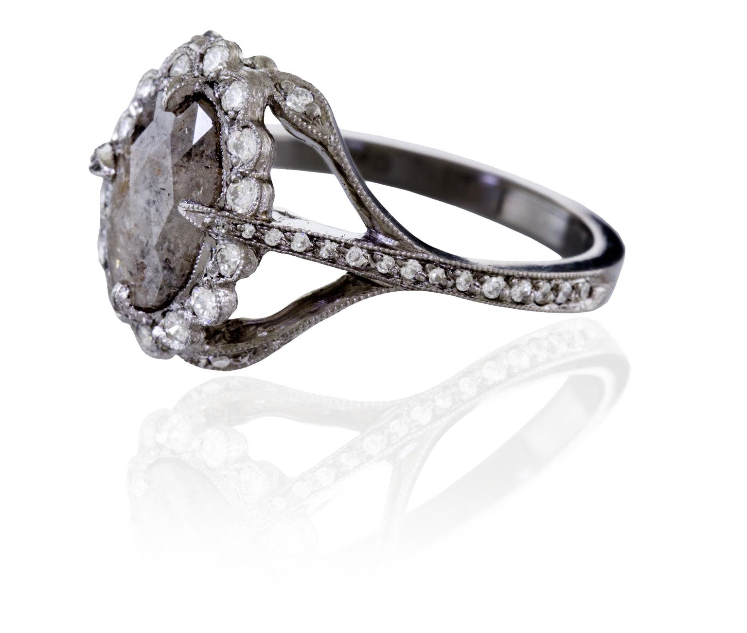 Rustic Diamond Secret Garden Ring