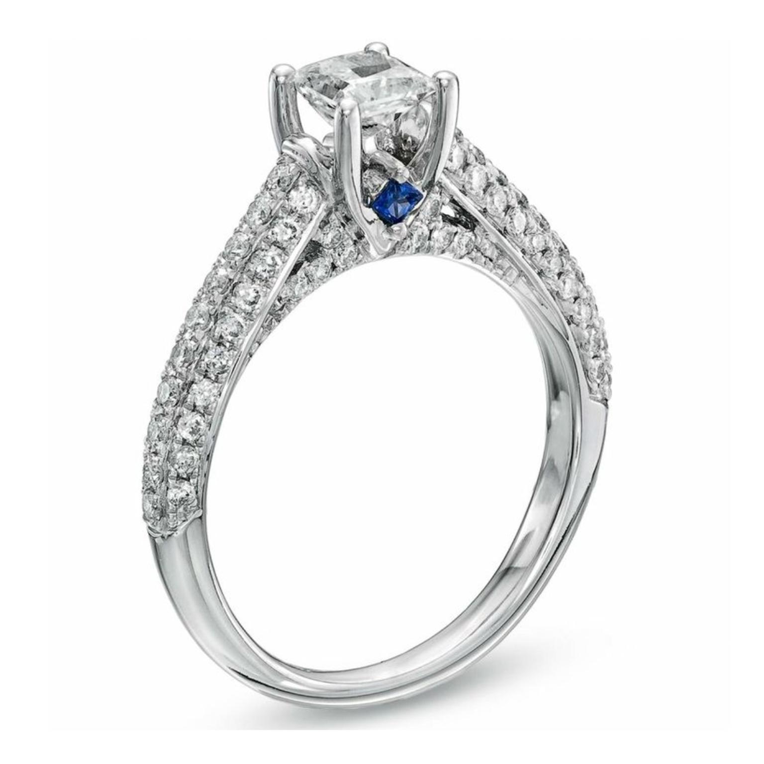 Promise princess cut diamond engagement ring De Beers