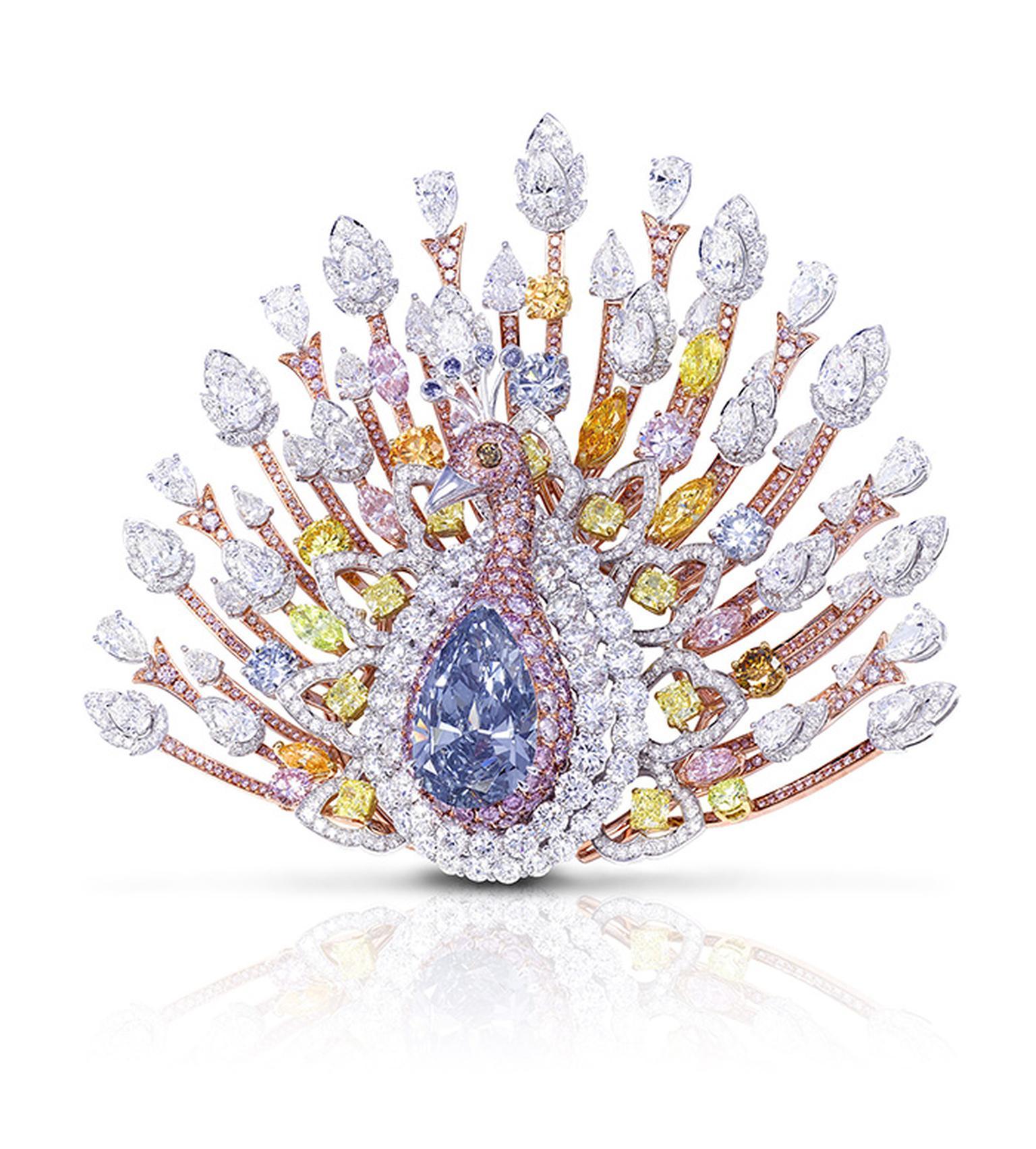 Graff Diamonds US$100 million peacock brooch | The Jewellery Editor