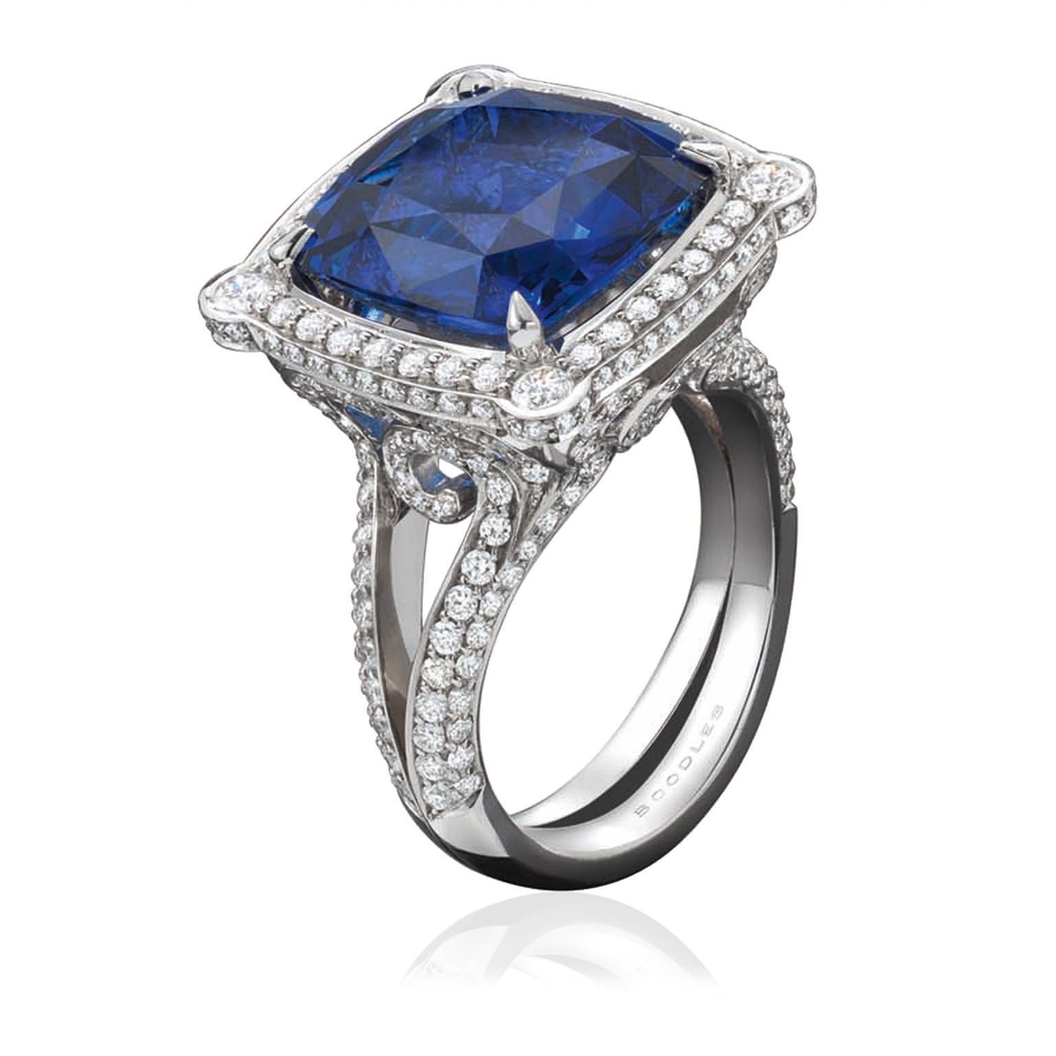 Fresh Vintage cushion-cut sapphire engagement ring | Boodles | The  YY45