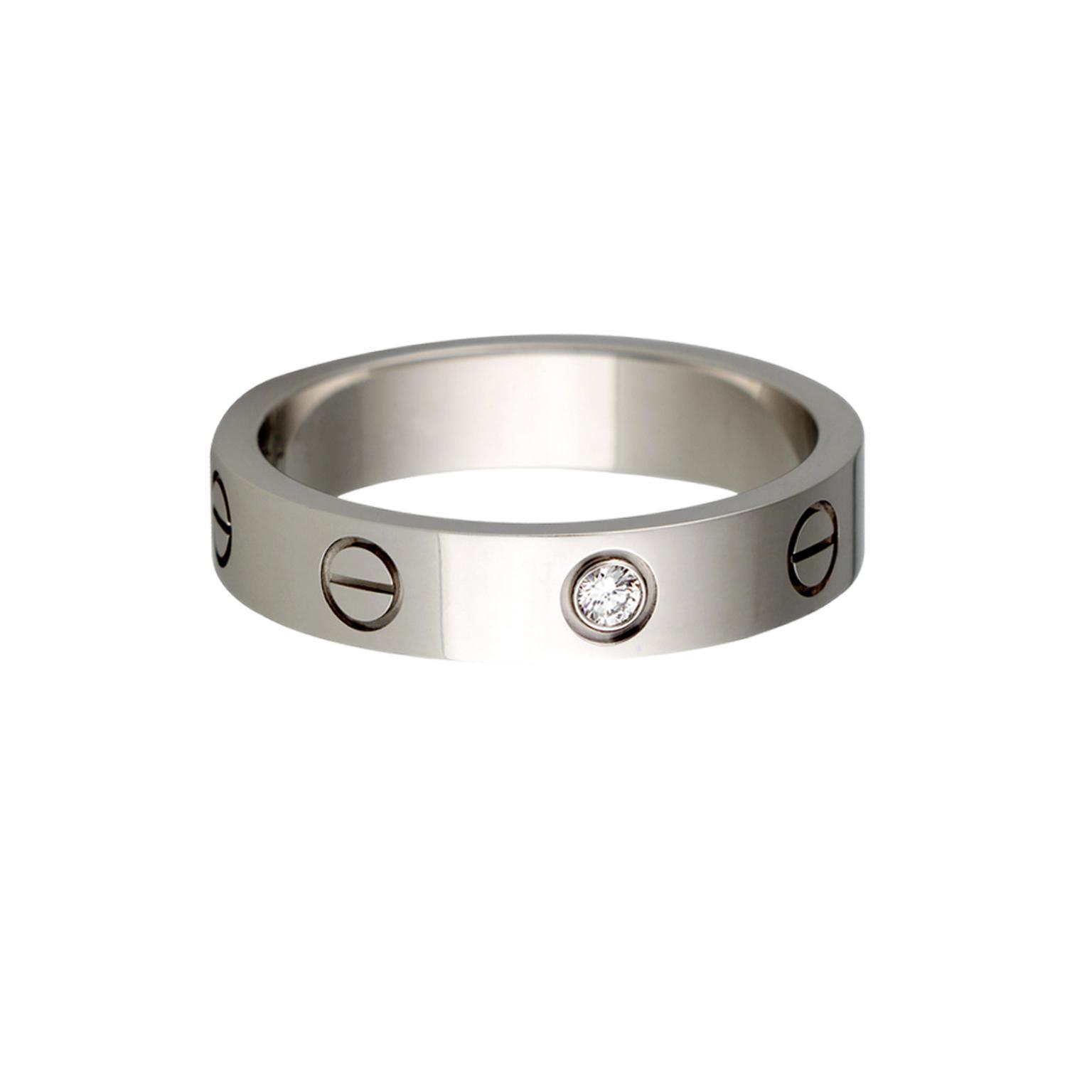 Cartier Love Wedding Ring Zoom