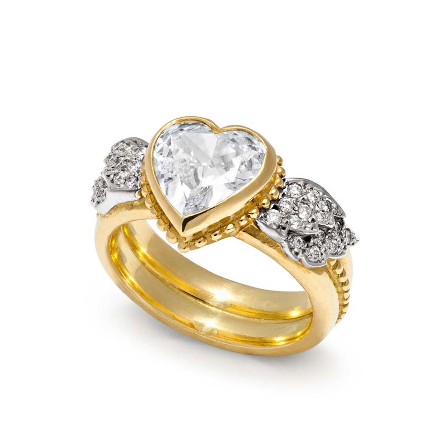 heart shaped diamond engagement ring sophie harley the