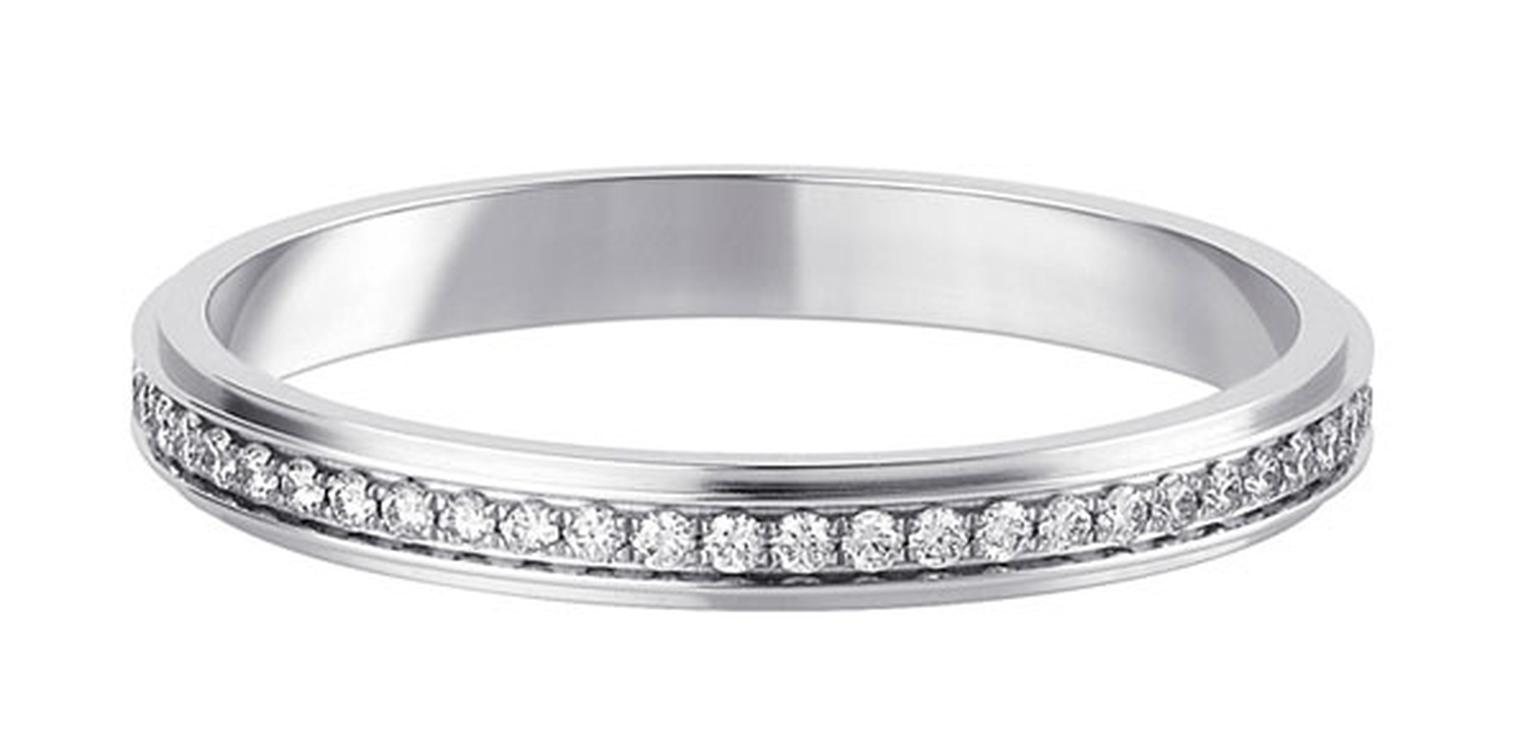 Cartier D Amour Wedding Ring Platinum Paved With Brilliant Cut Diamonds