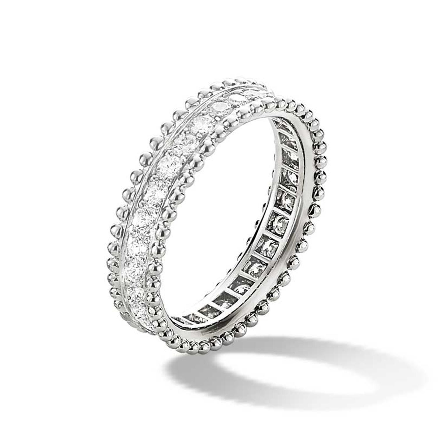 Van Cleef & Arpels Estelle ring in platinum and diamonds