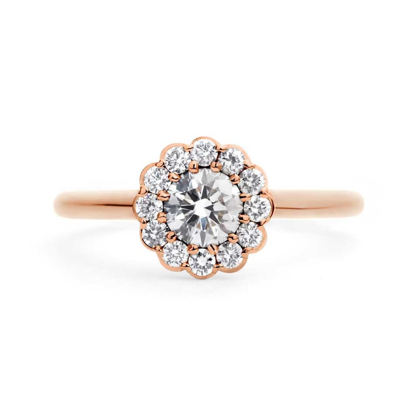 British Jeweller Andrew Geoghegan S Cannelé Twist Rose Gold Engagement Ring Has A Vintage Feel