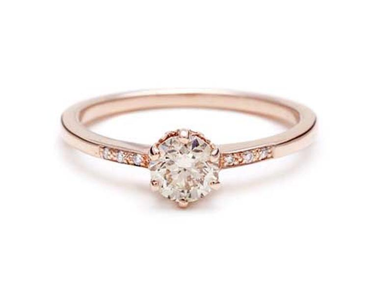Rose gold engagement rings the trend for flattering pink gold is
