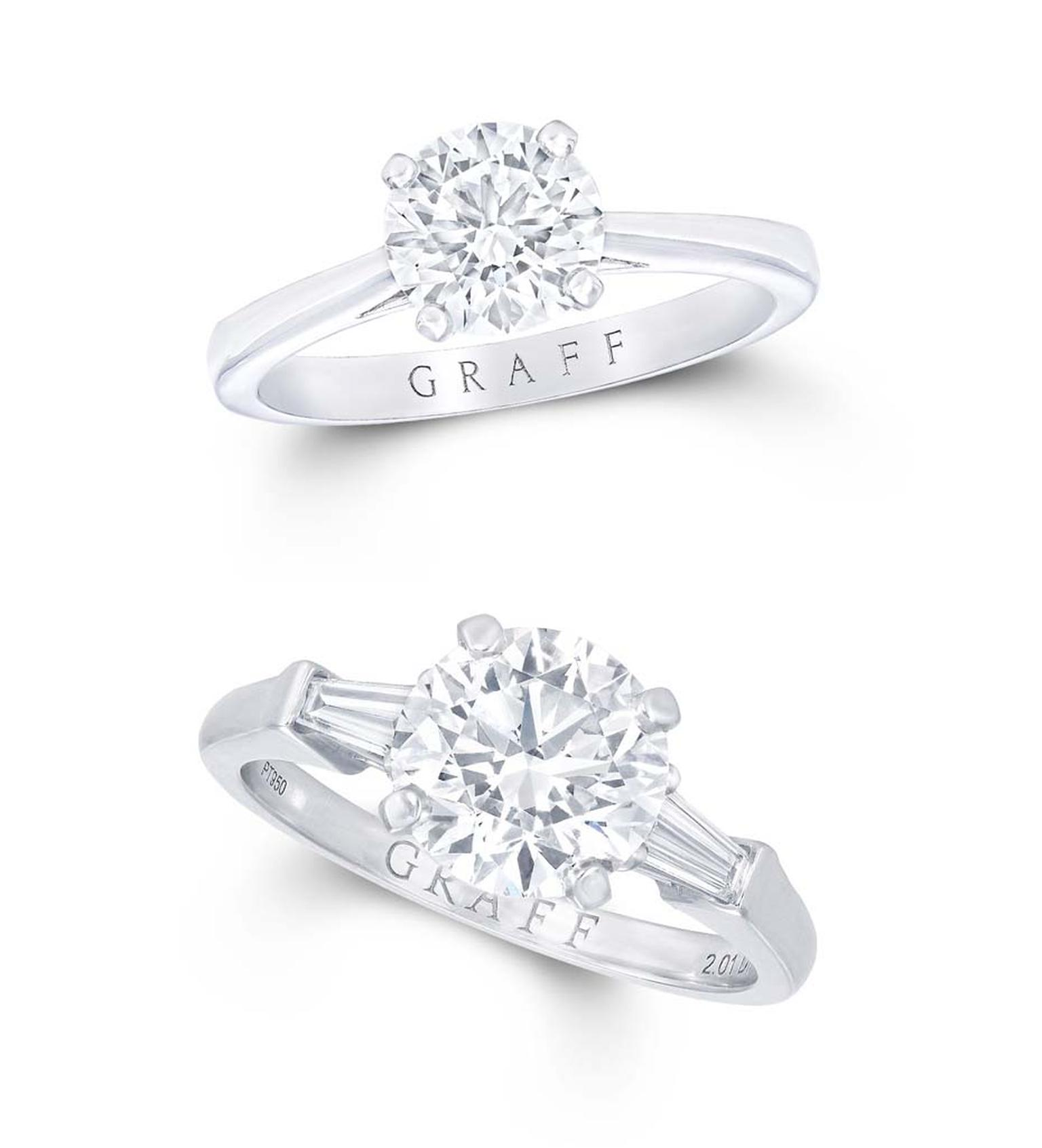A 2 carat diamond engagement ring dramatically increases the