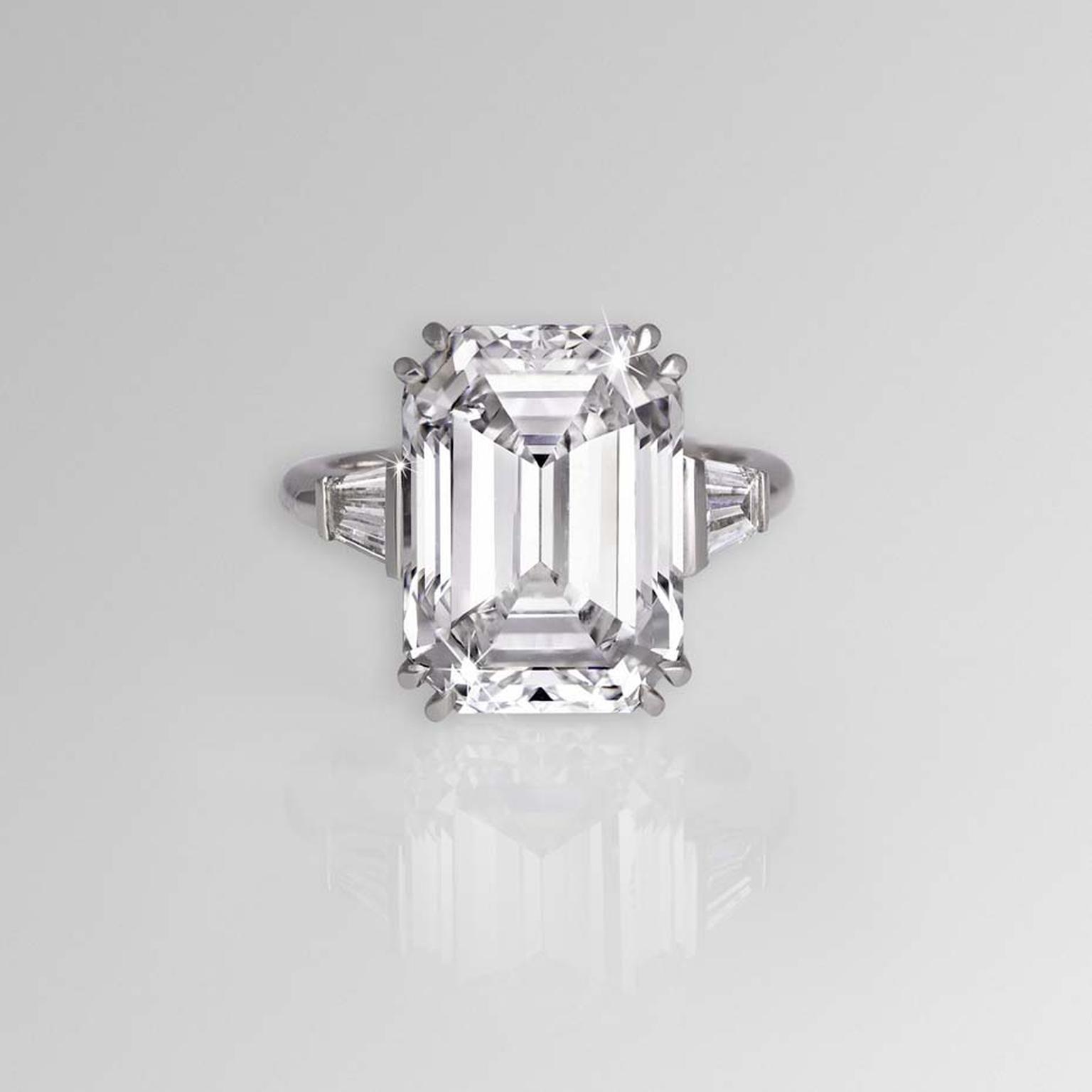 Most beautiful emerald cut diamond ings in the world