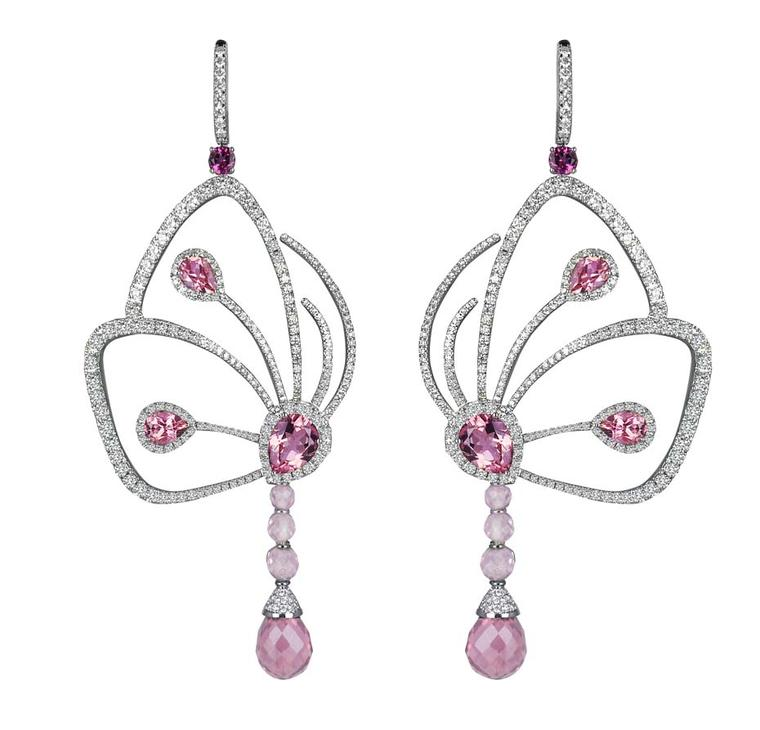 Jacob & Co Butterfly earrings from the Papillon collection