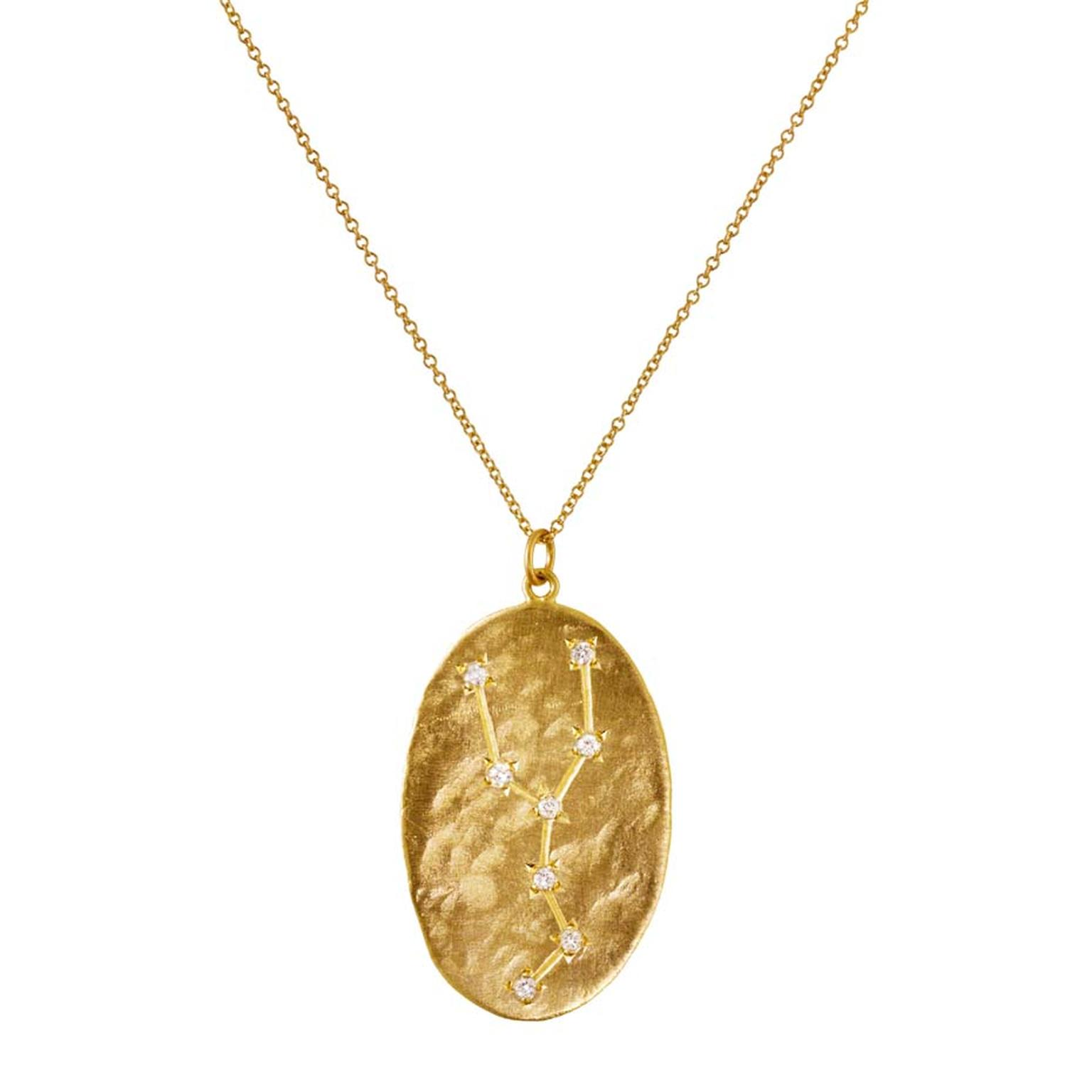 Yellow Gold And Diamond Taurus Pendant Necklace From Brooke Gregson S Astrology Collection 2 060